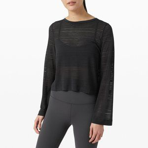 lululemon Black Clear and Present Shirt size 6